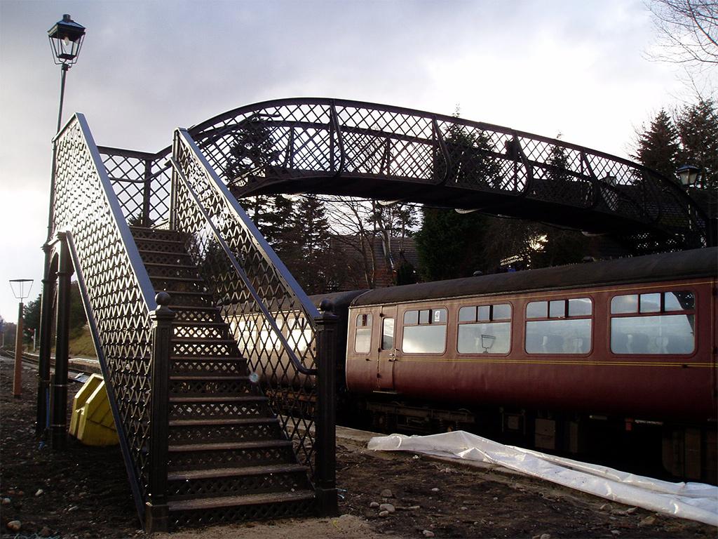 Refurbishment Of Railway Footbridge Hendersons Ltd
